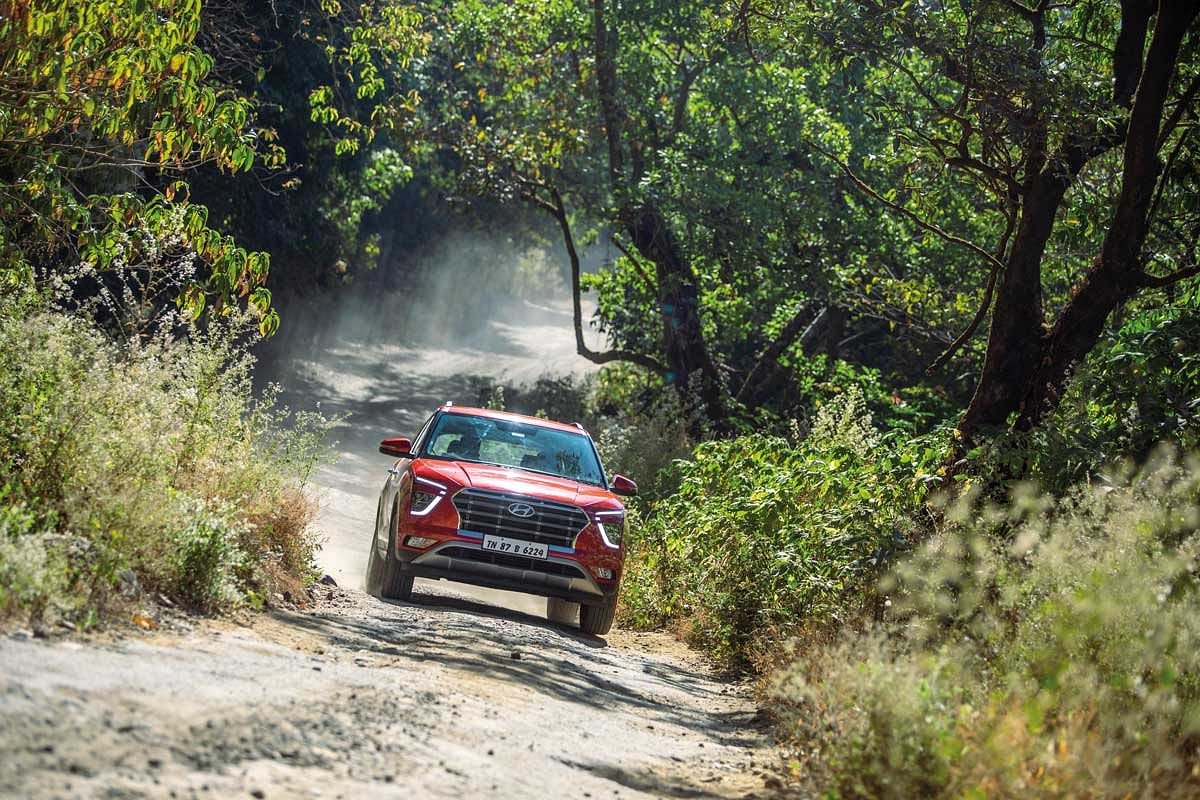 The Hyundai Creta feels at home even when the road disappears