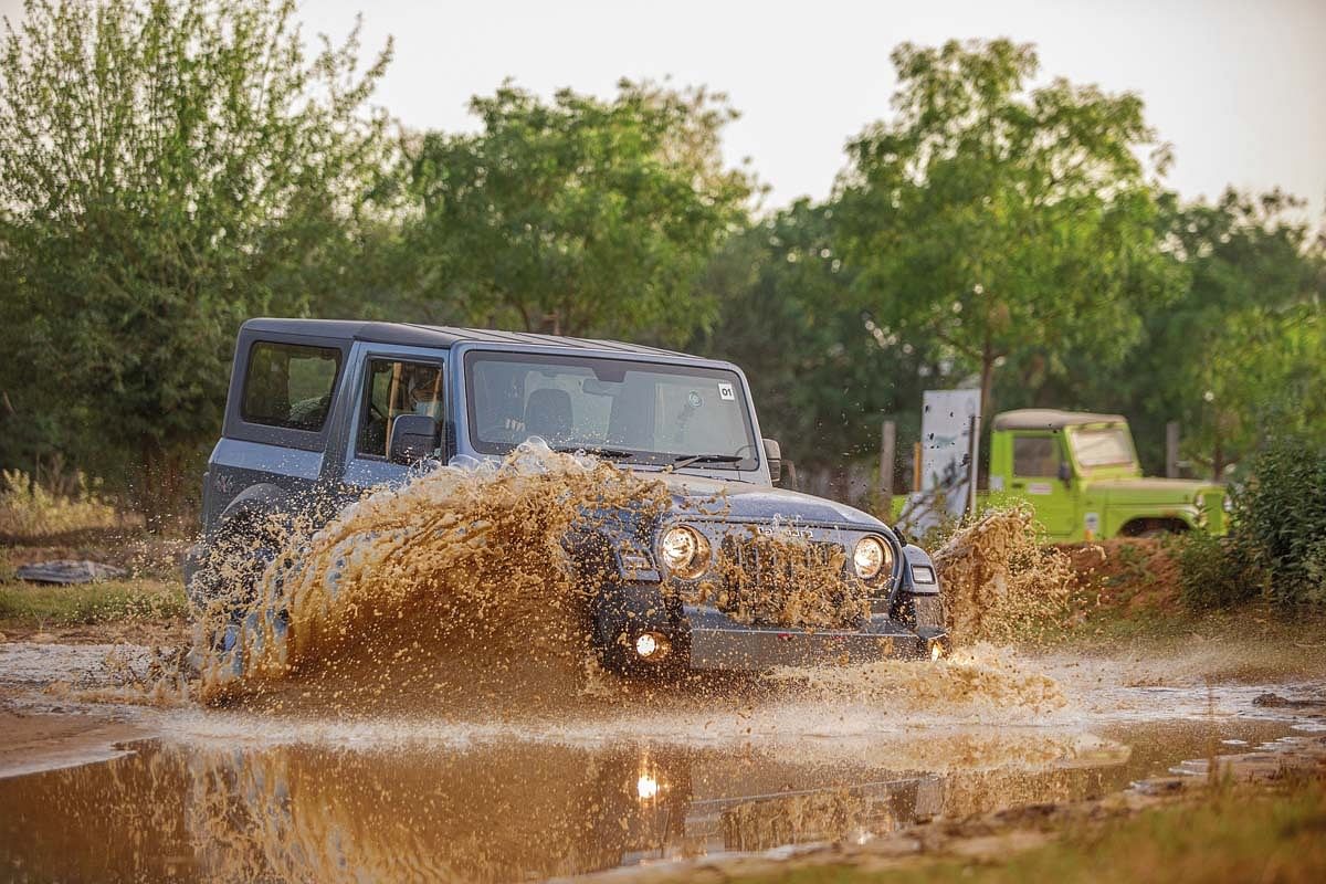 Once behind the wheel of the Thar, Goldy took on everything from articulation pits to steep inclines and even the slush pit, without breaking a sweat.
