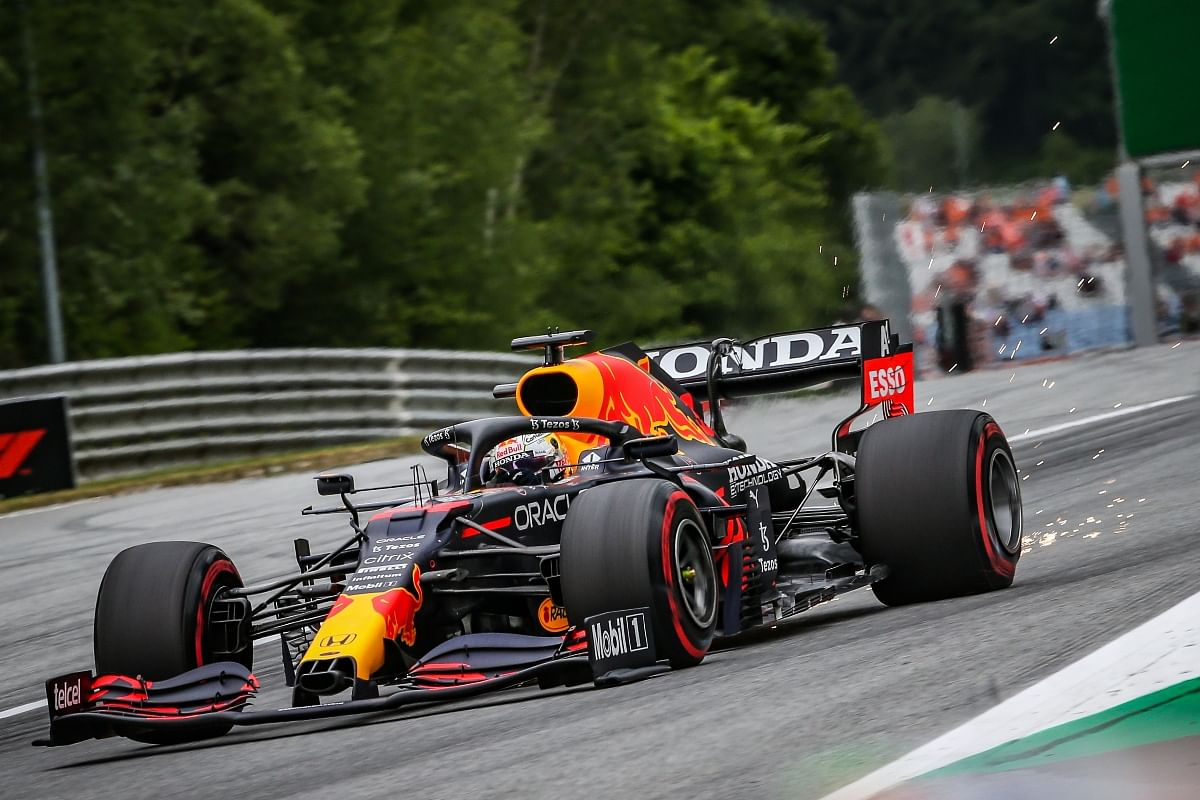 Max Verstappen stayed out in the light rainy conditions to prepare for similar conditions