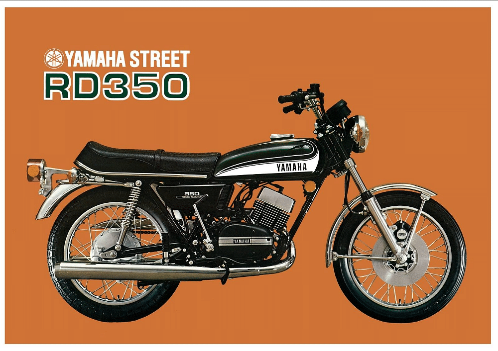 The classsic design of the RD350 was much loved by motorheads across the globe