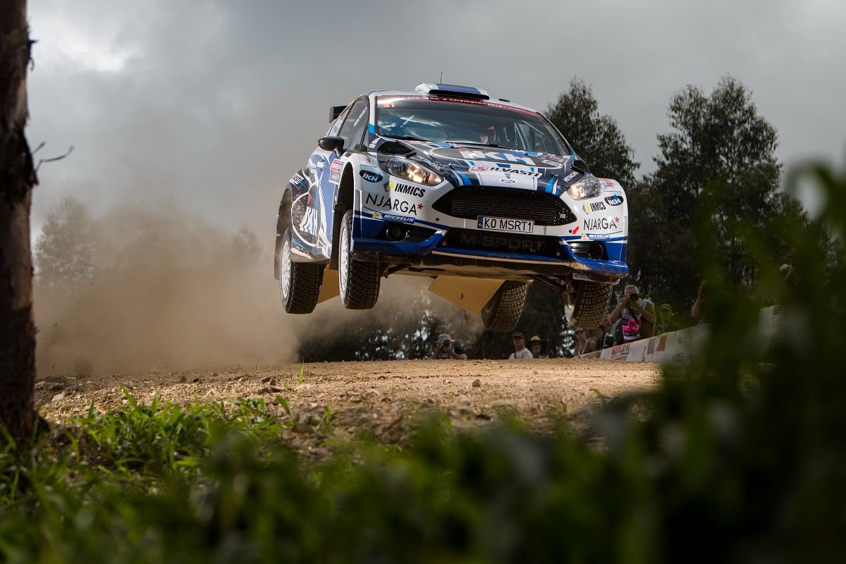 Kalle's M-Sport Ford Fiesta R5 had a 1.6 litre four-cylinder engine capable of doing high jumps on tracks