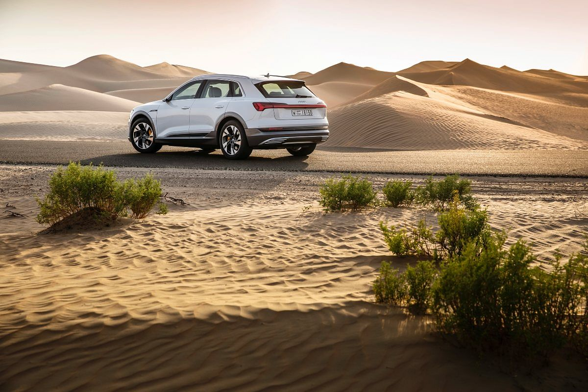 The e-tron SUV bears resemblance to the larger Audi Q7