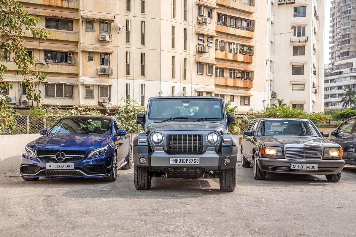The Mahindra Thar has two V8-powered Mercs for company