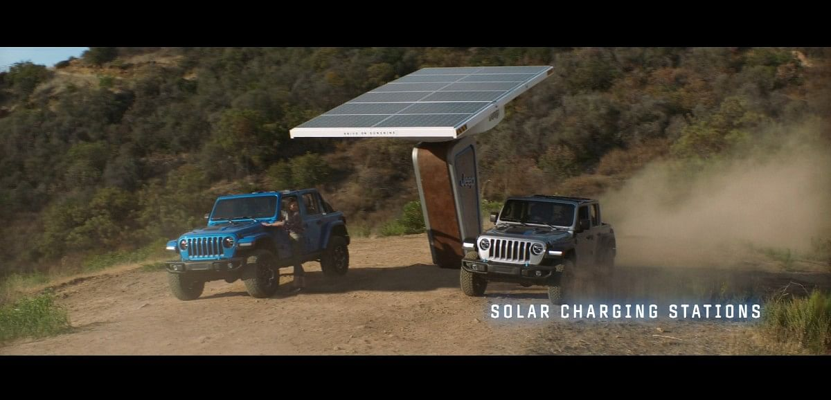 Jeep plans to install solar charging stations on famous off-road trails in the USA