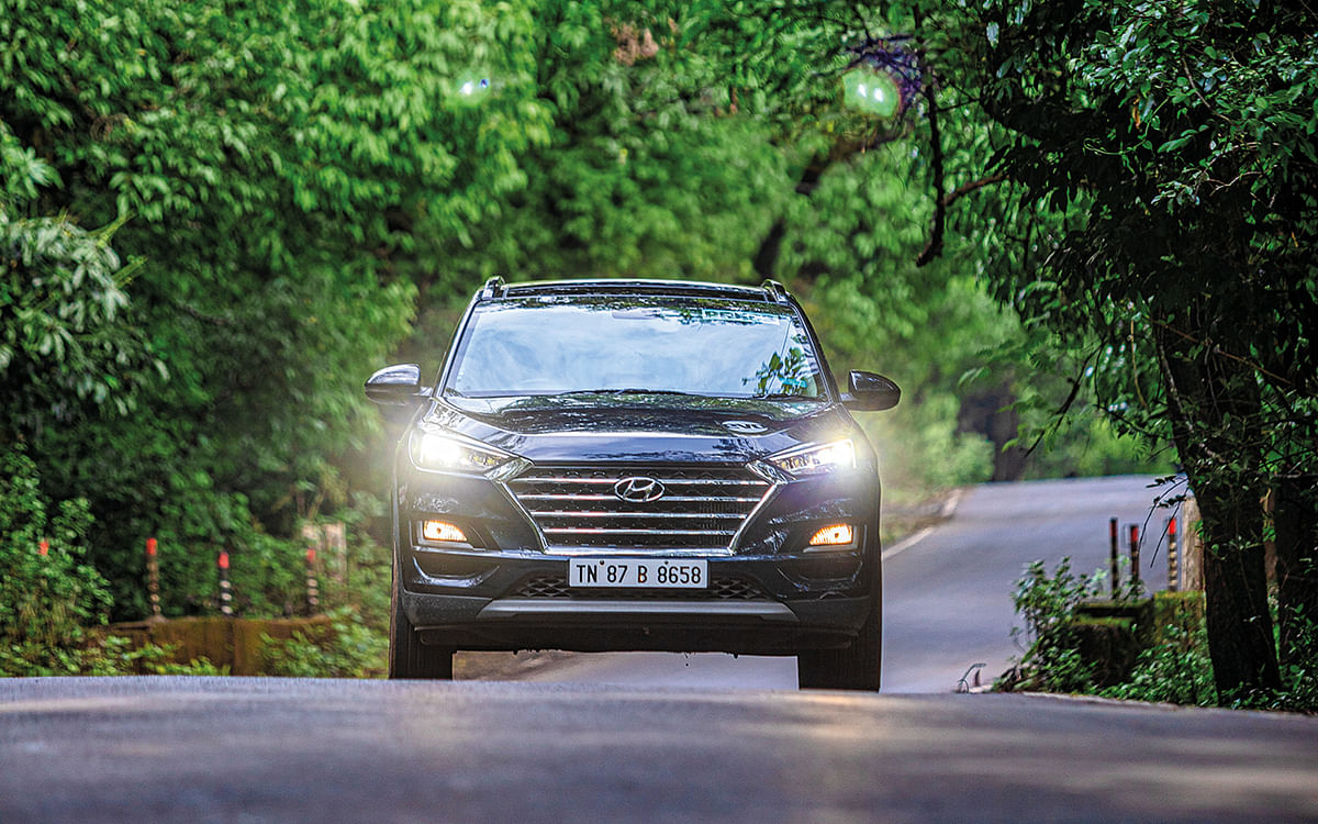 The Tucson showcased its duality of being a mile-muncher and an engaging SUV for the twisties