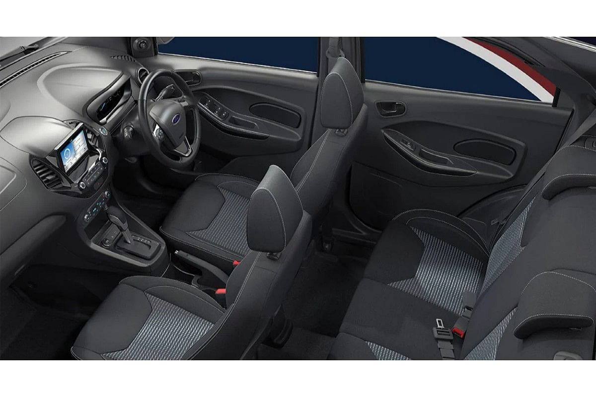 The cabin of the Ford Figo automatic receives six airbags