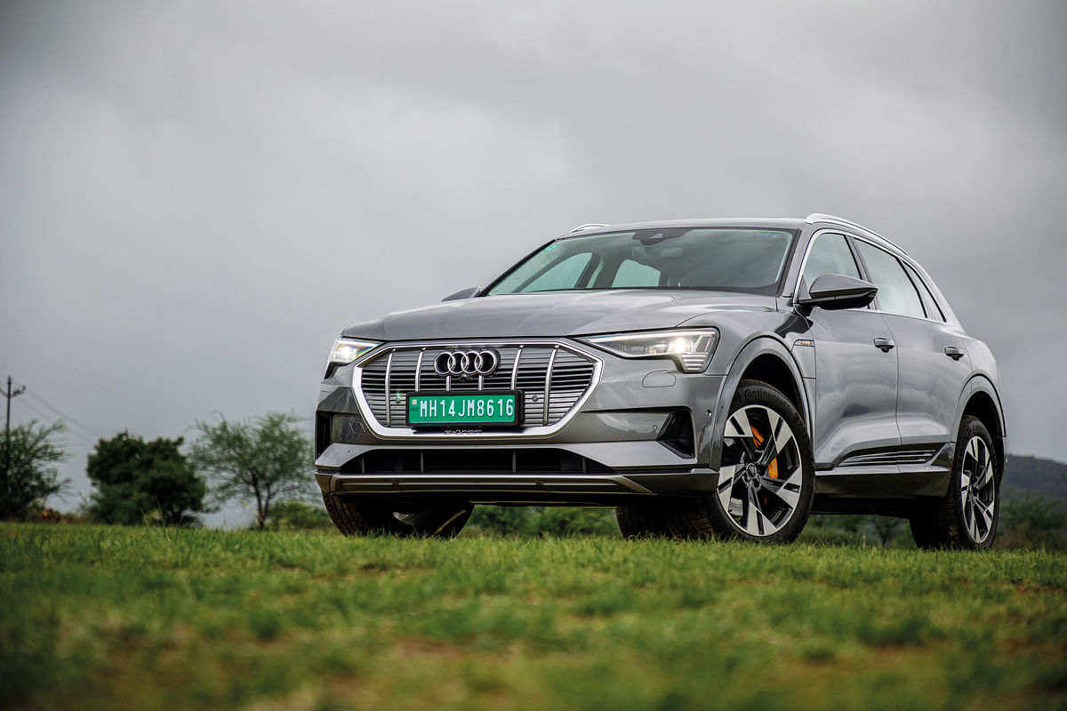 With its conventional looks the Audi e-tron is the biggest one in this comparison