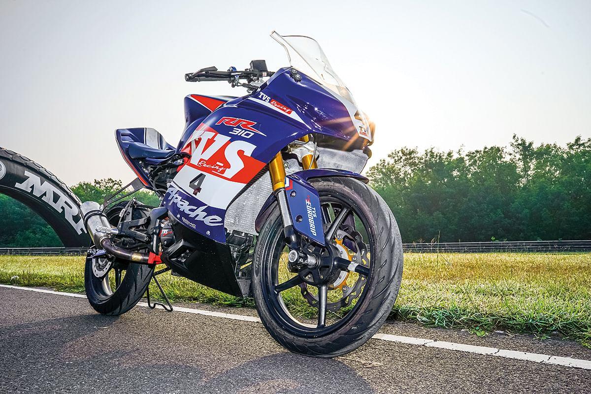 The race-spec RR 310 is 40kg lighter than the stock model