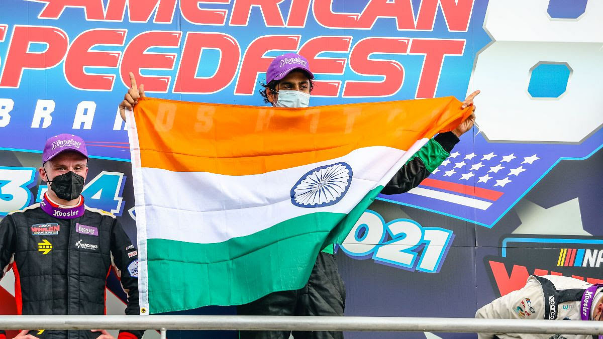 Advait Deodhar claims first pole and a win at NASCAR Whelen Euro Series