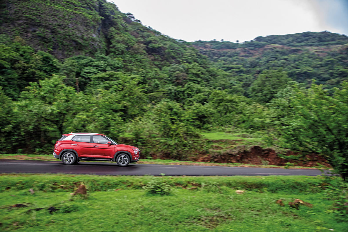 Tamhini ghat covered in lush greenery during the monsoon