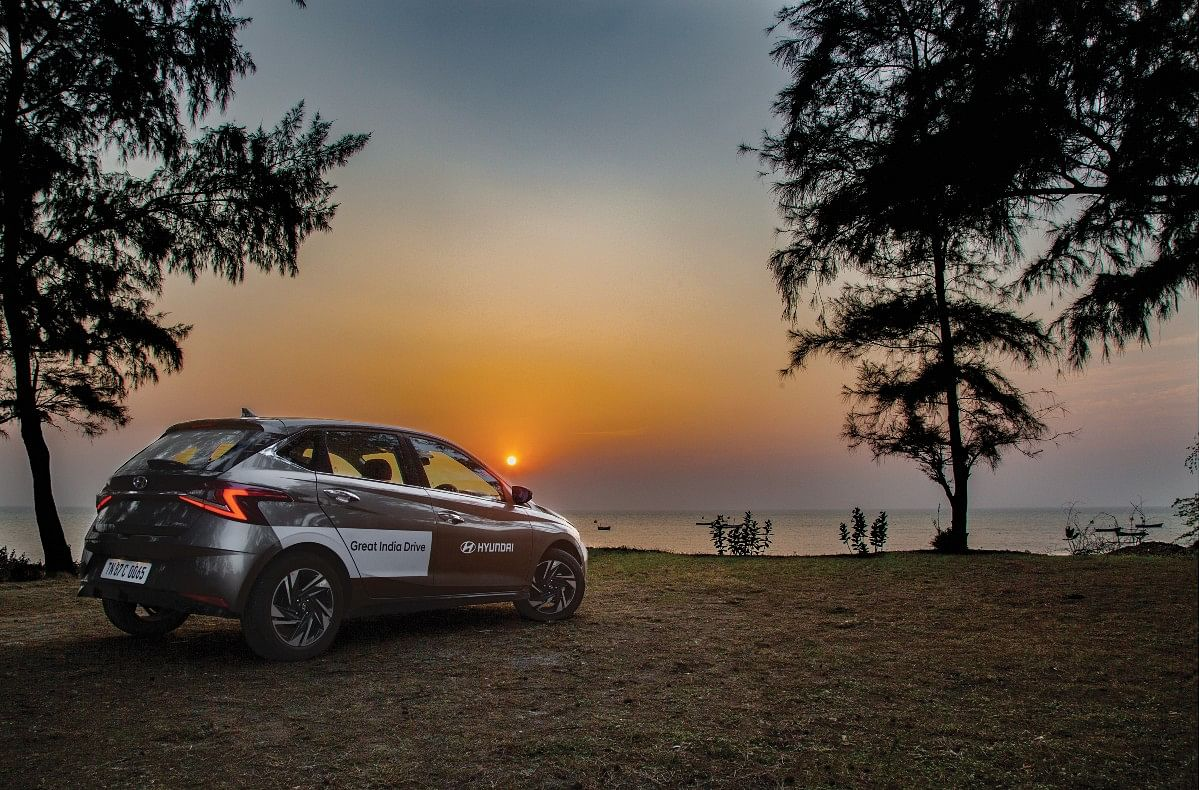 As the sun set in the Arabian sea, our fun with the i20 wasn't over