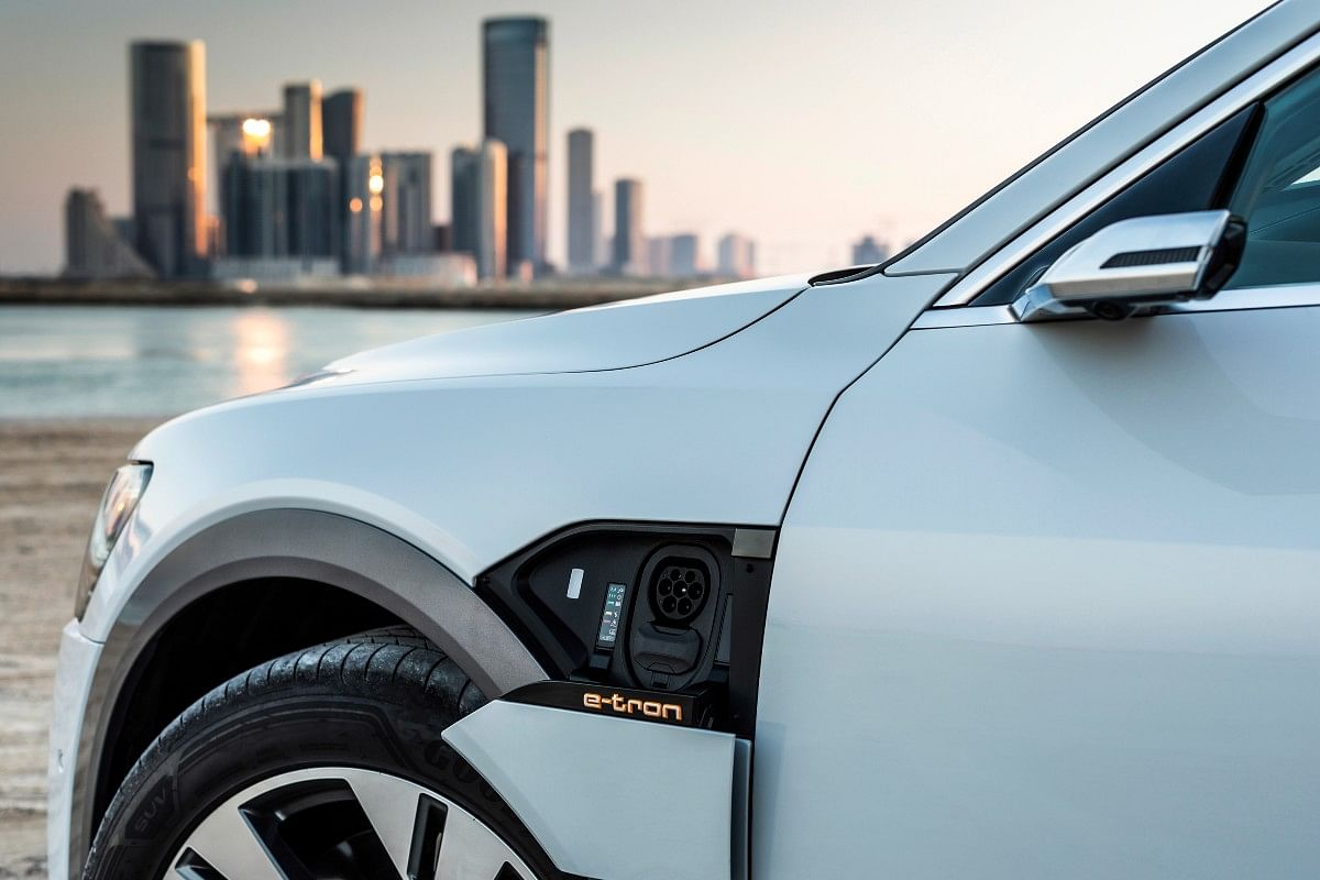 The Audi e-tron gets charging sockets on both sides