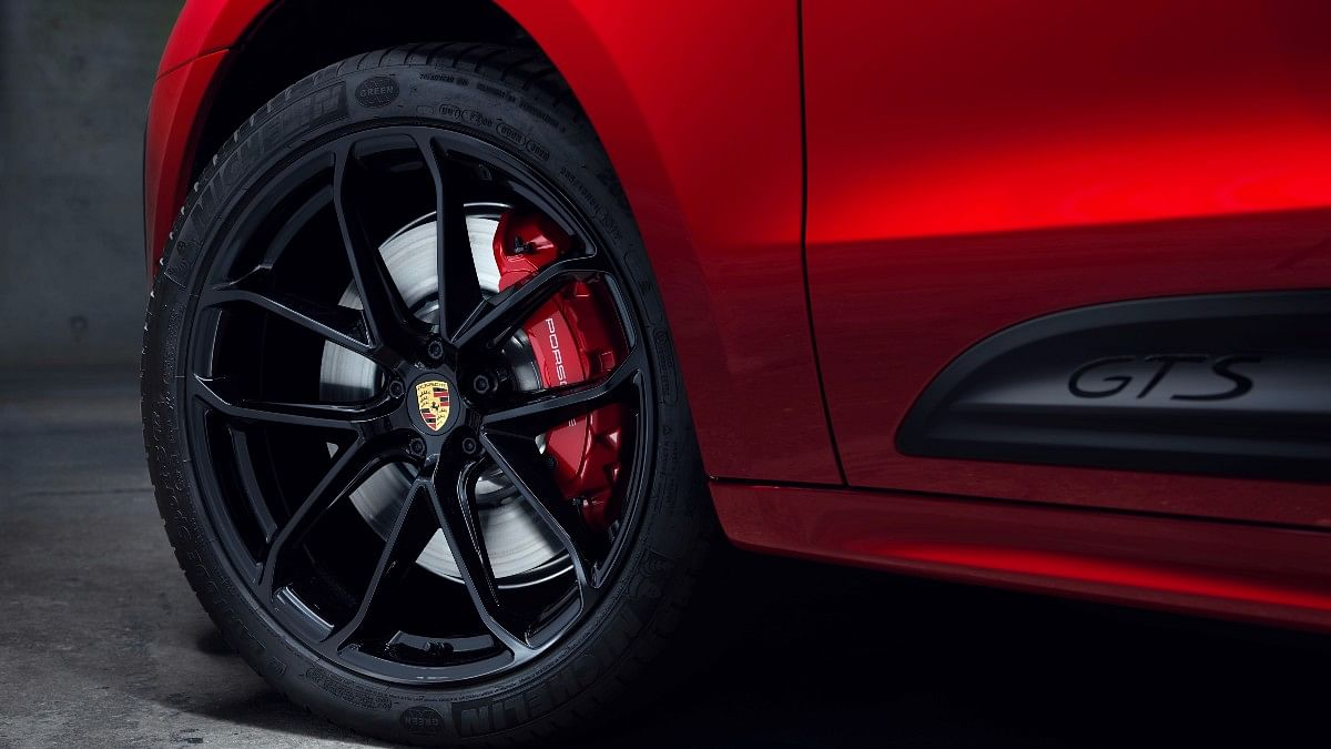 The Macan GTS gets 21-inch wheels as standard and also features an air suspension