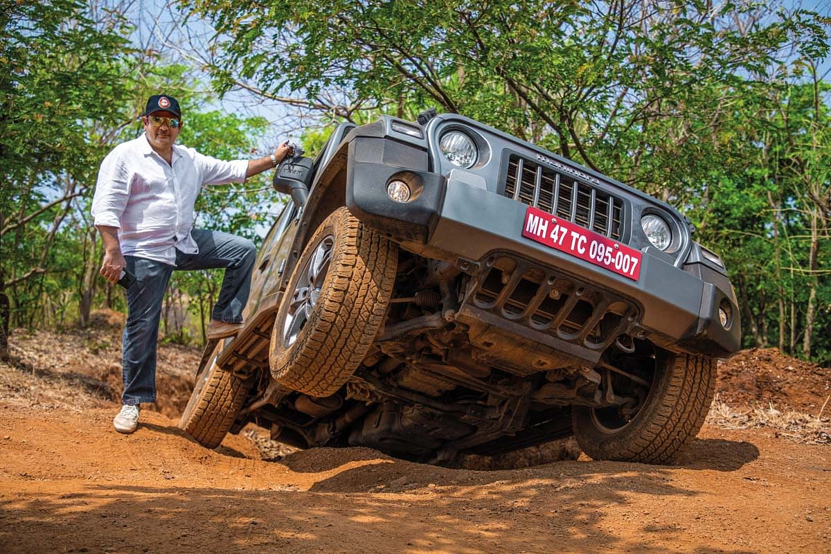 This was the first time Parag drove the new Thar on such extreme terrain