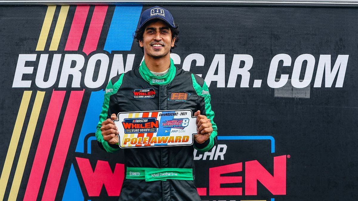 Advait claims his first podium of EuroNascar 2 in Brands Hatch