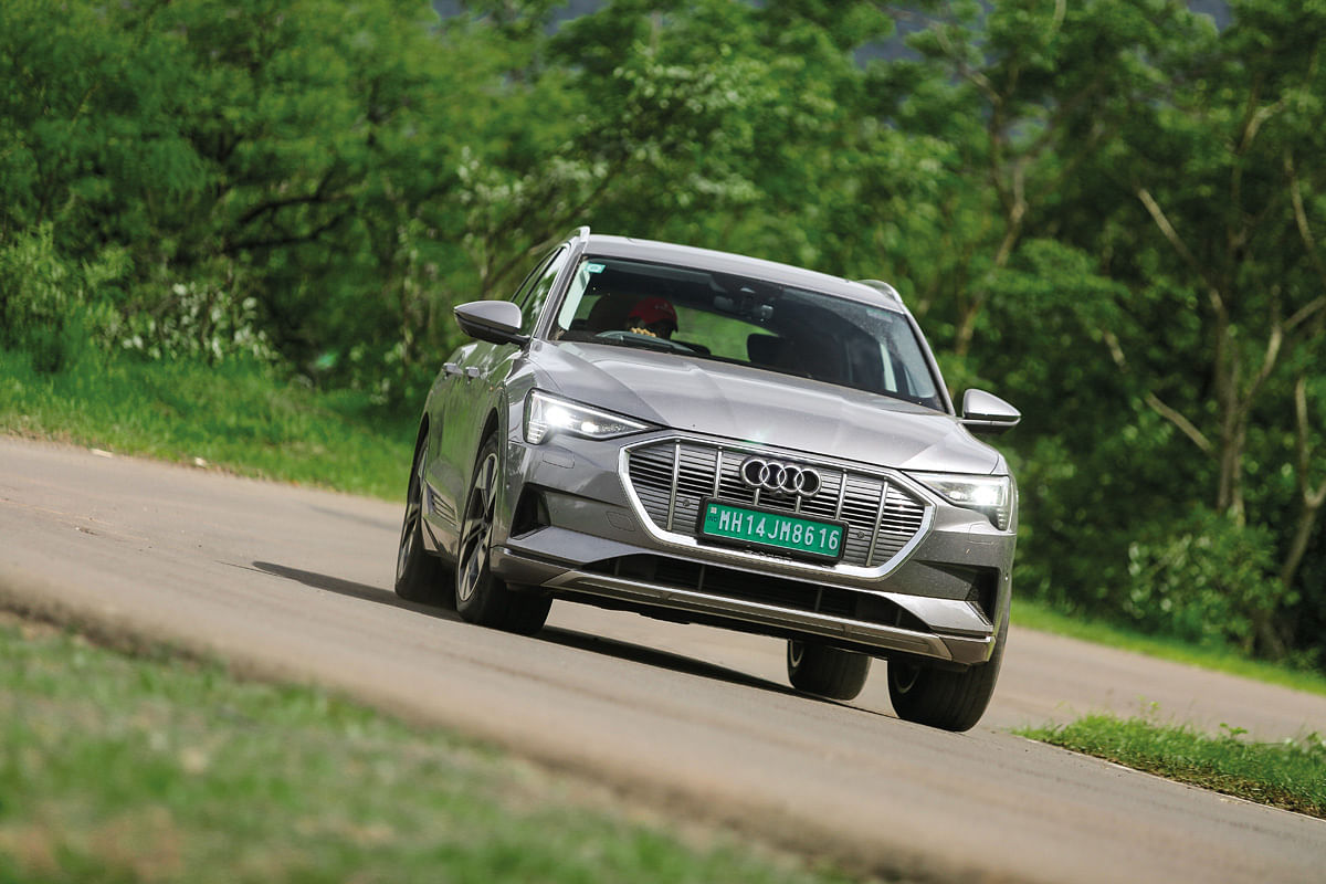 The Quattro AWD system gives the e-tron plenty of grip