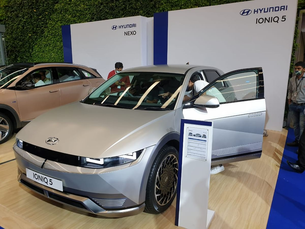 Hyundai Ioniq 5 along with other cars were also on display