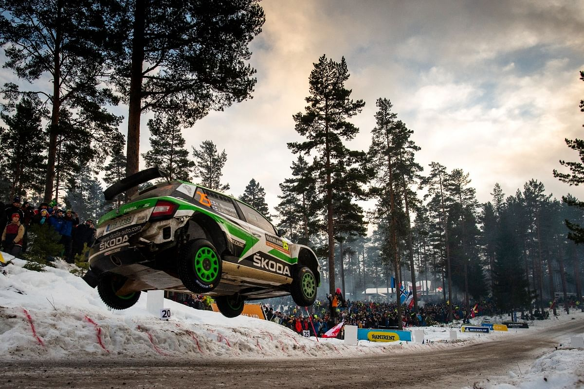 Scary jumps like this is a common aspect in the WRC world