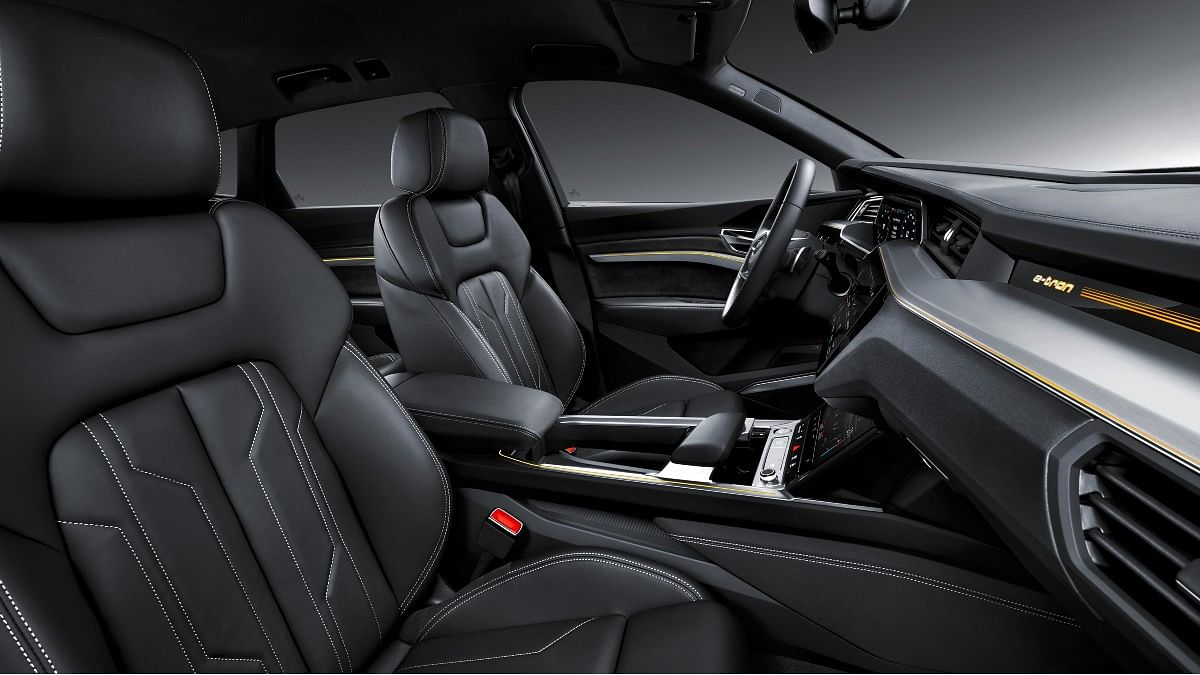 Front seats are electronically adjustable and receive memory function