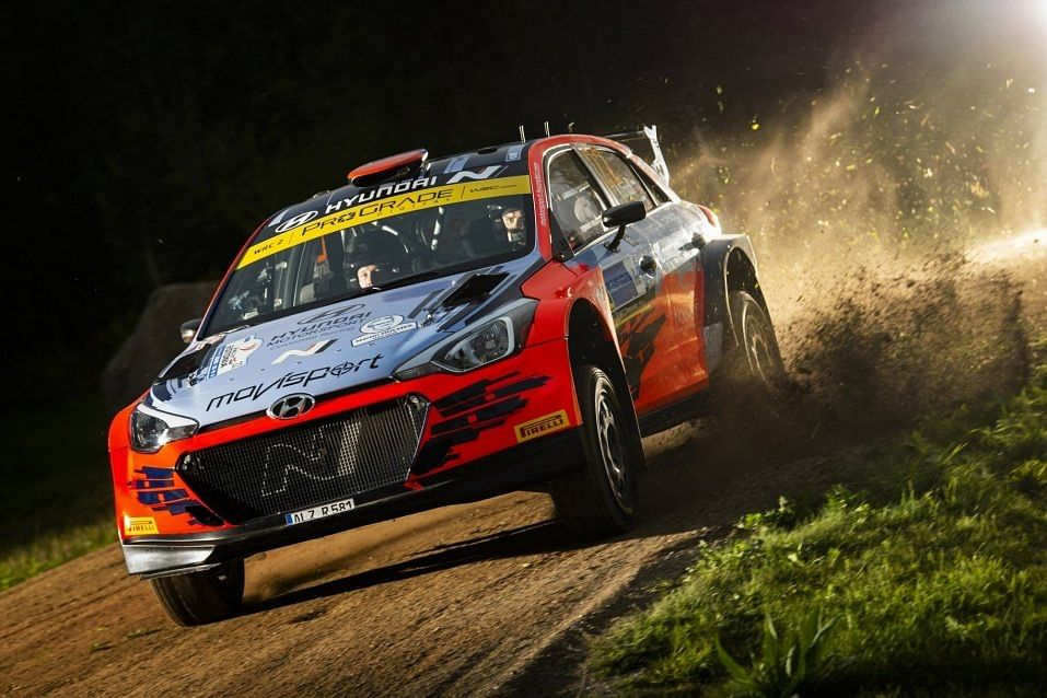 The Saturday stage is the longest in the Estonia Rally