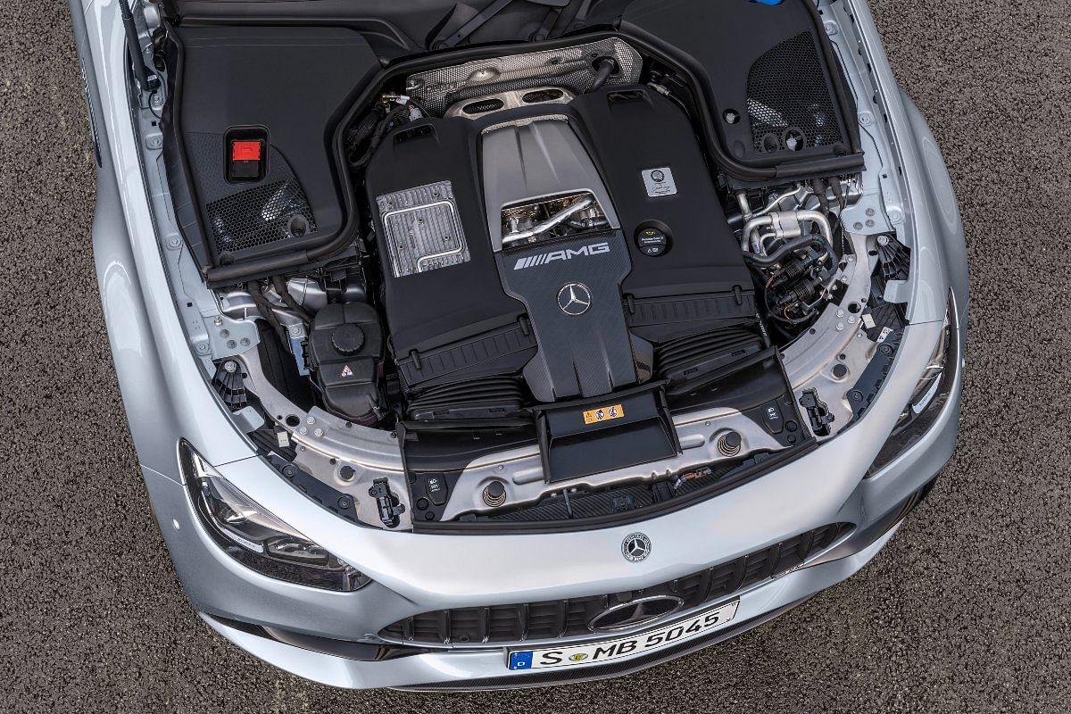 Sitting underneath the hood is this behemoth 4-litre V8 bi-turbo engine