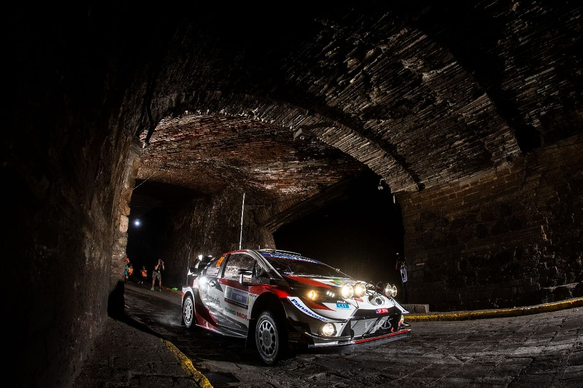 Rallying in the night? The Toyota Yaris WRC can be fitted with multiple auxillary headlights.