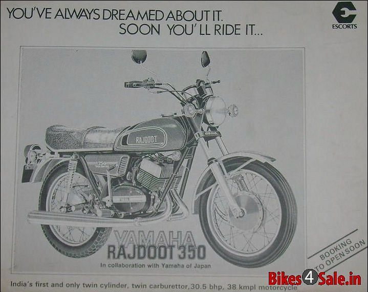 An old clipping of the Yamaha Rajdoot RD350