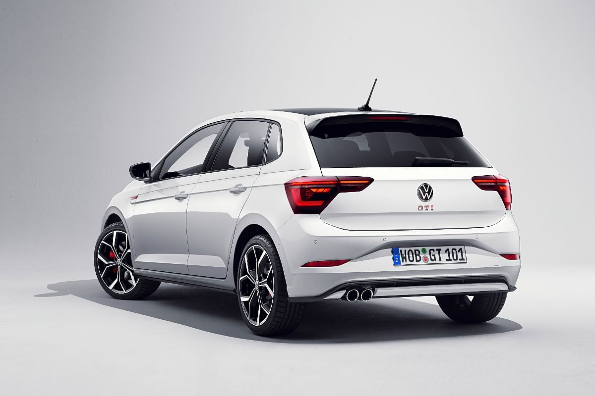 The twin tailpipes add to the sporty look