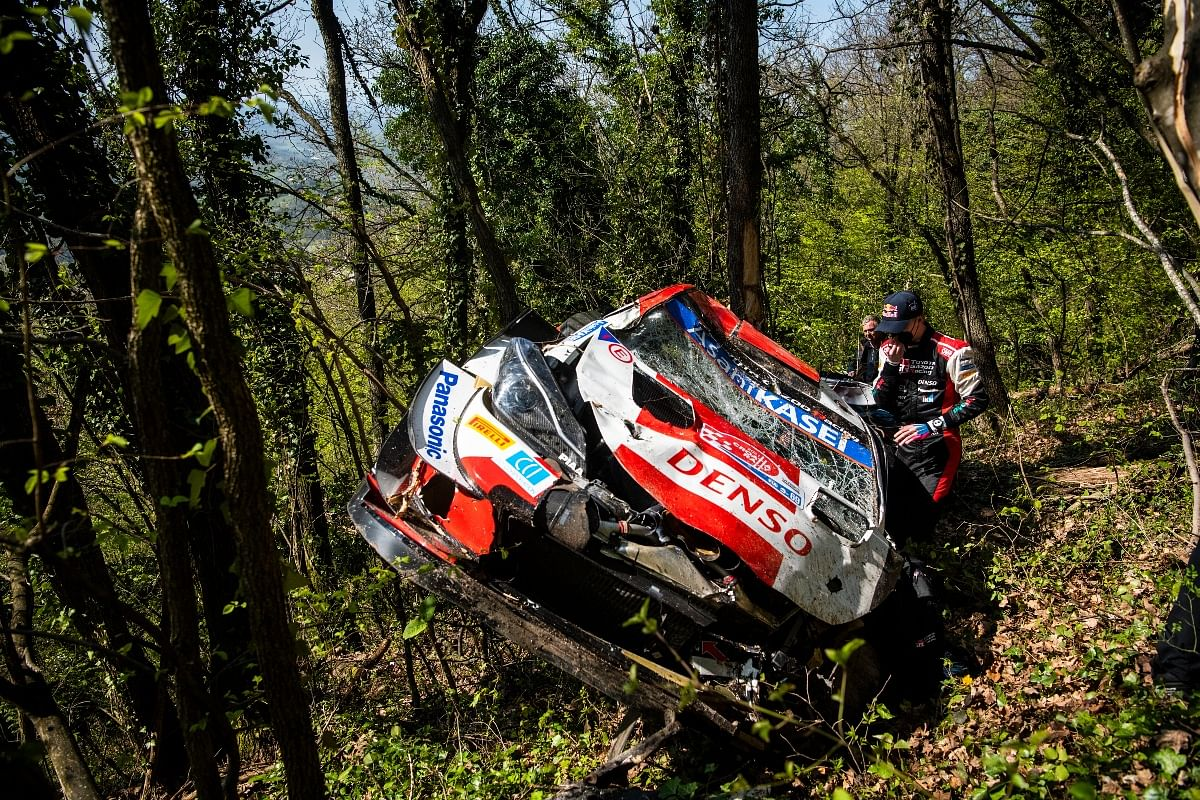Kalle crashed at Croatia Rally in 2021
