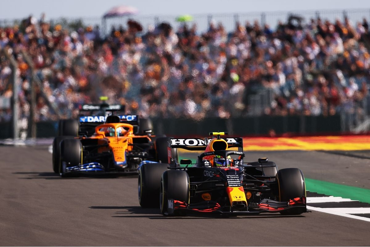 The McLaren cars were showing good race pace today