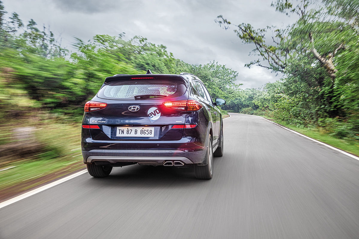 The Tucson stays planted through the straights and inspires confidence in the corners