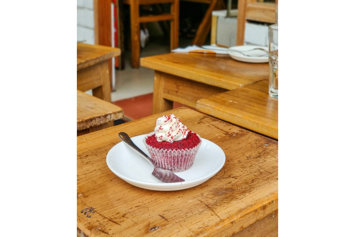 We ended lunch on a perfect note with these red velvet cupcakes