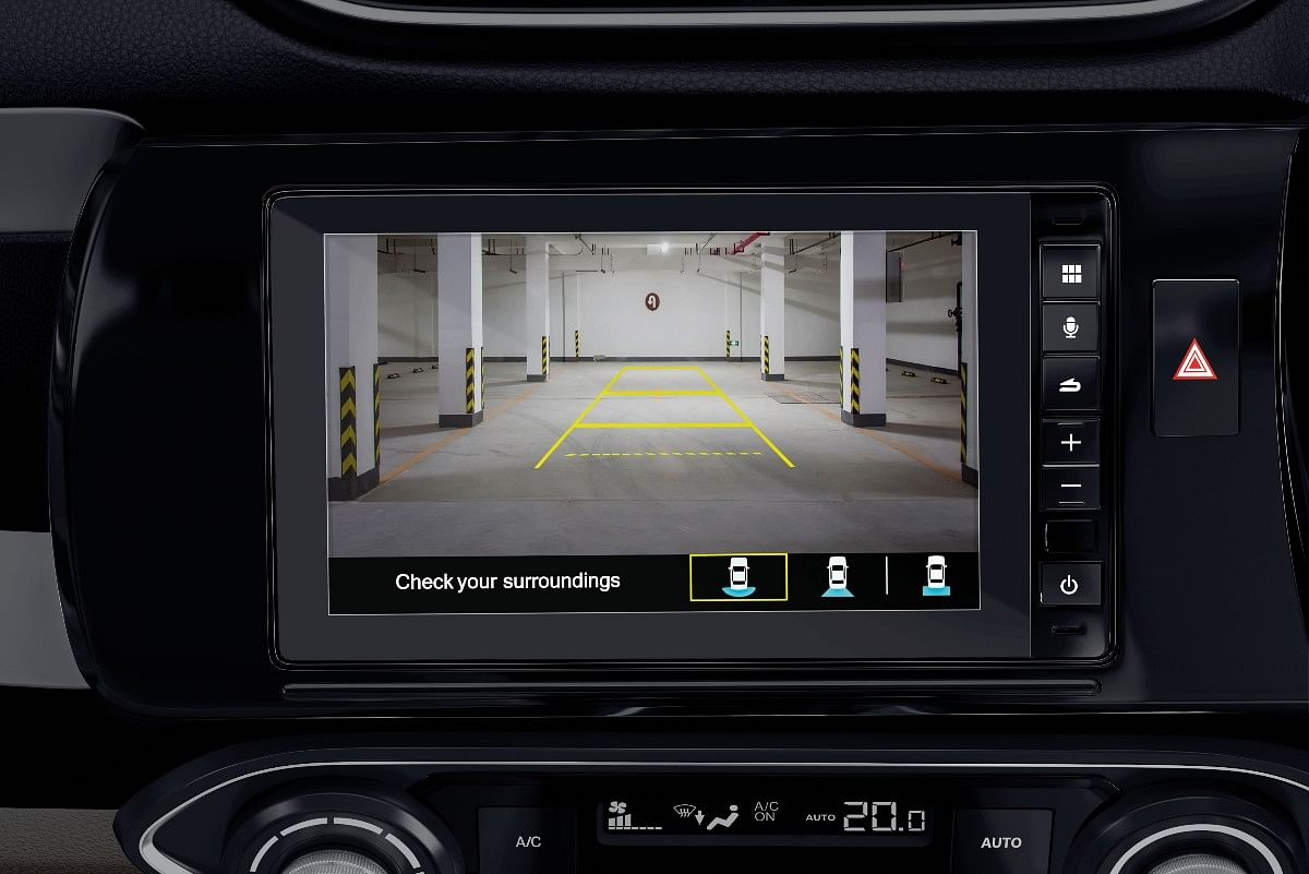 and it also gets multi-view rear view camera