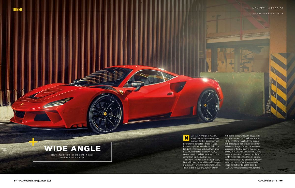 If the F8 wasn't angry enough, Novitec will sell you this!