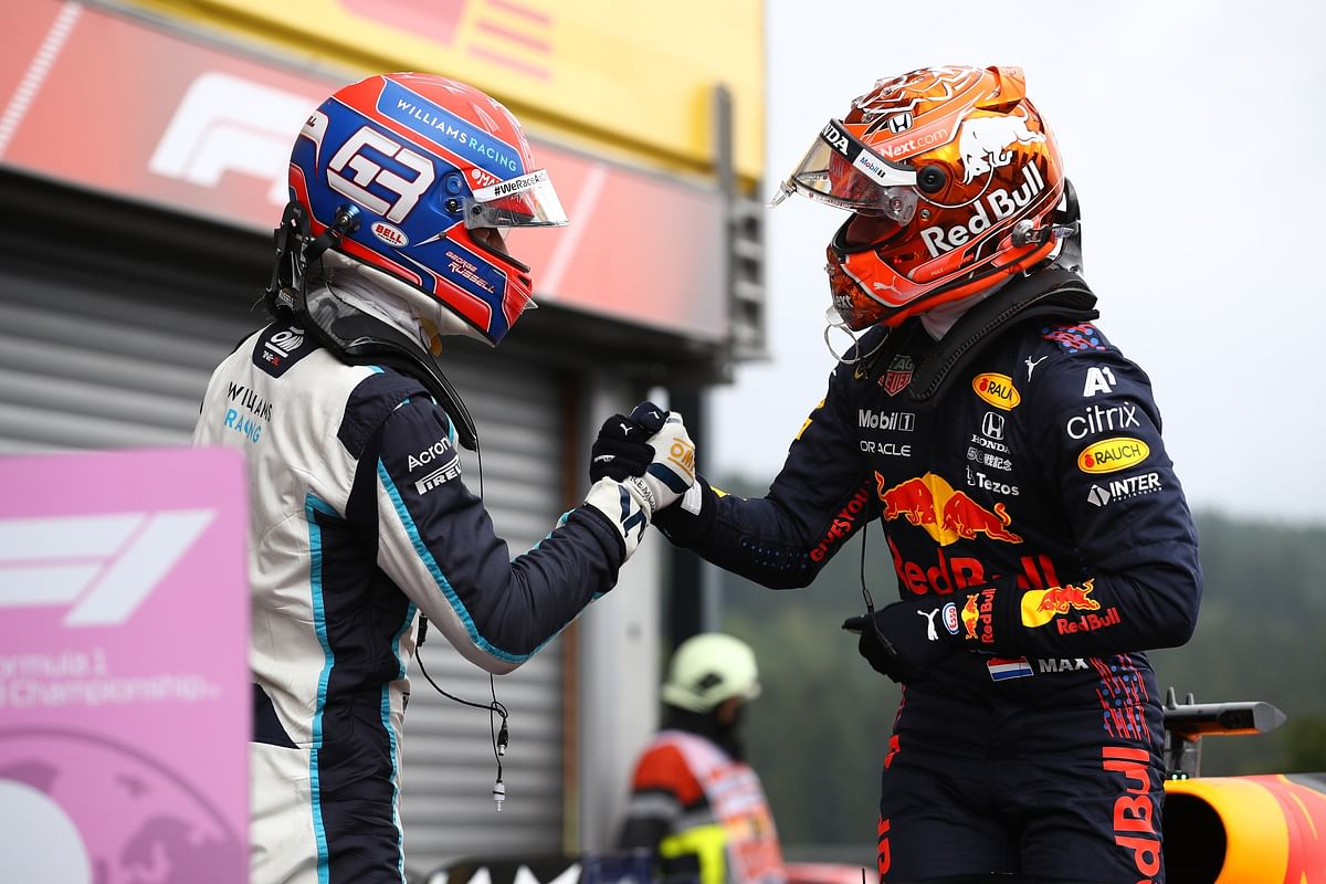 George Russell bags second in a wet qualifying session at the 2021 Belgian GP