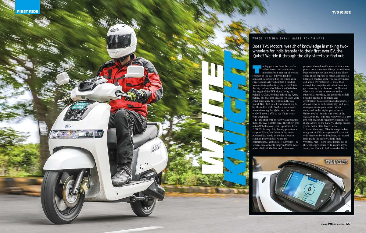 TVS Motors dips its toes in the EV space with the iQube