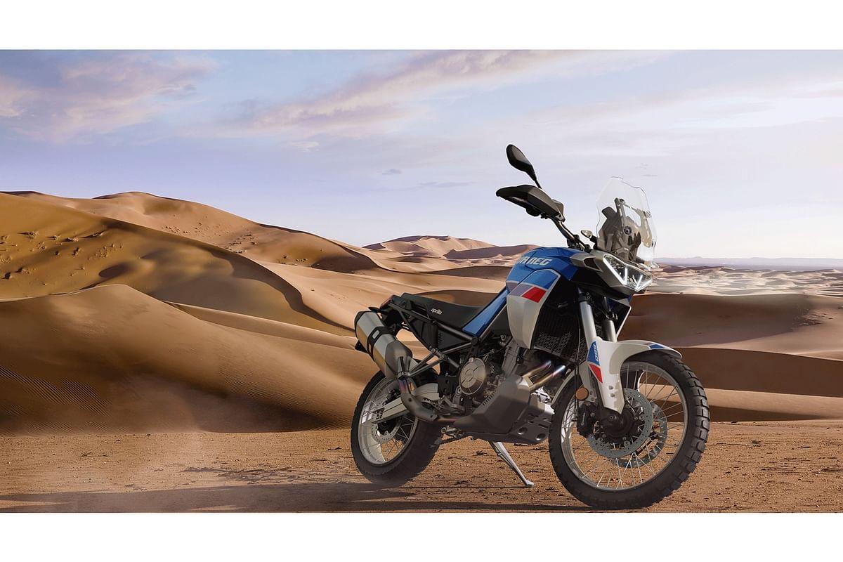 Aprilia Tuareg 660 partially revealed