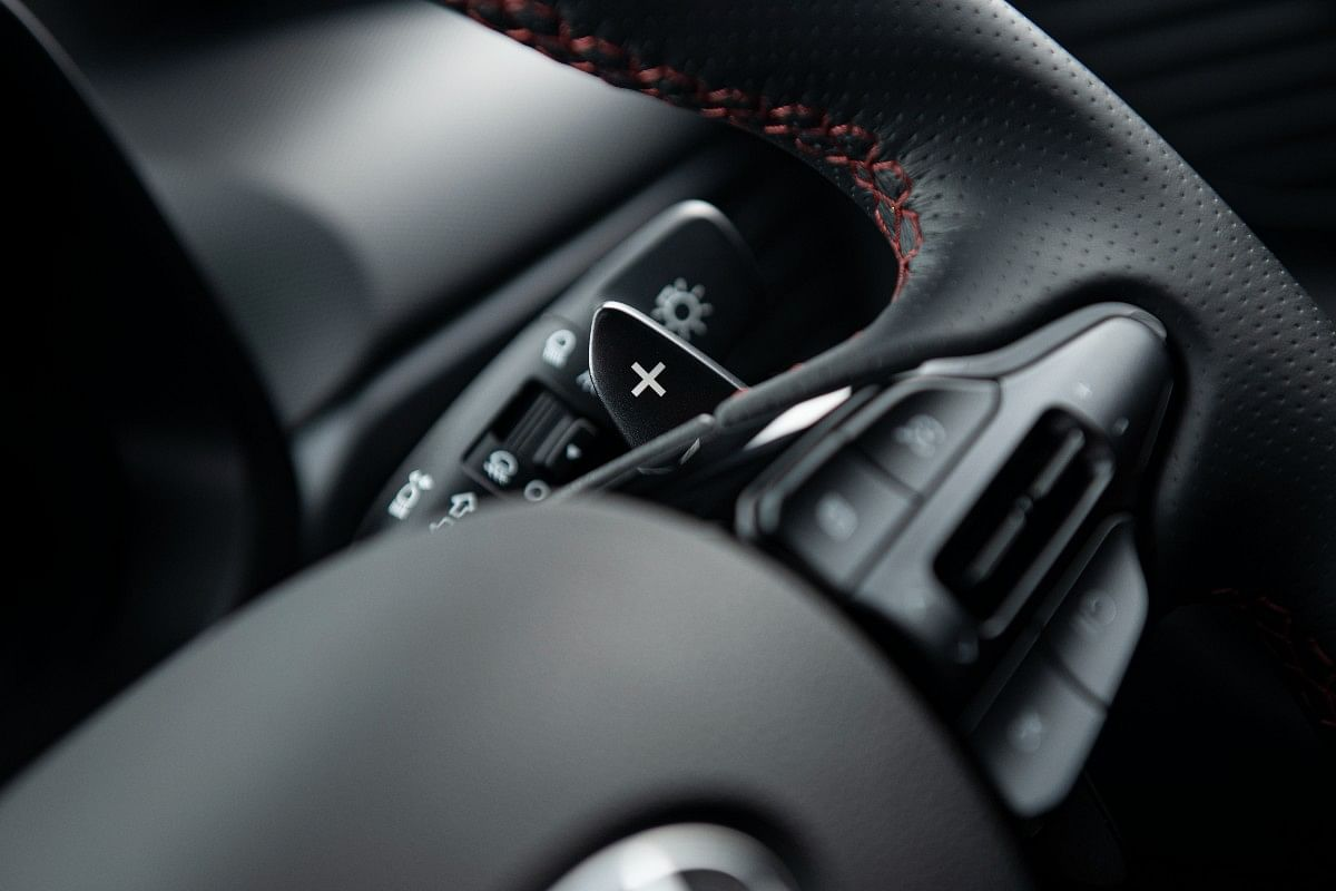 Paddle shifters available on the DCT variant
