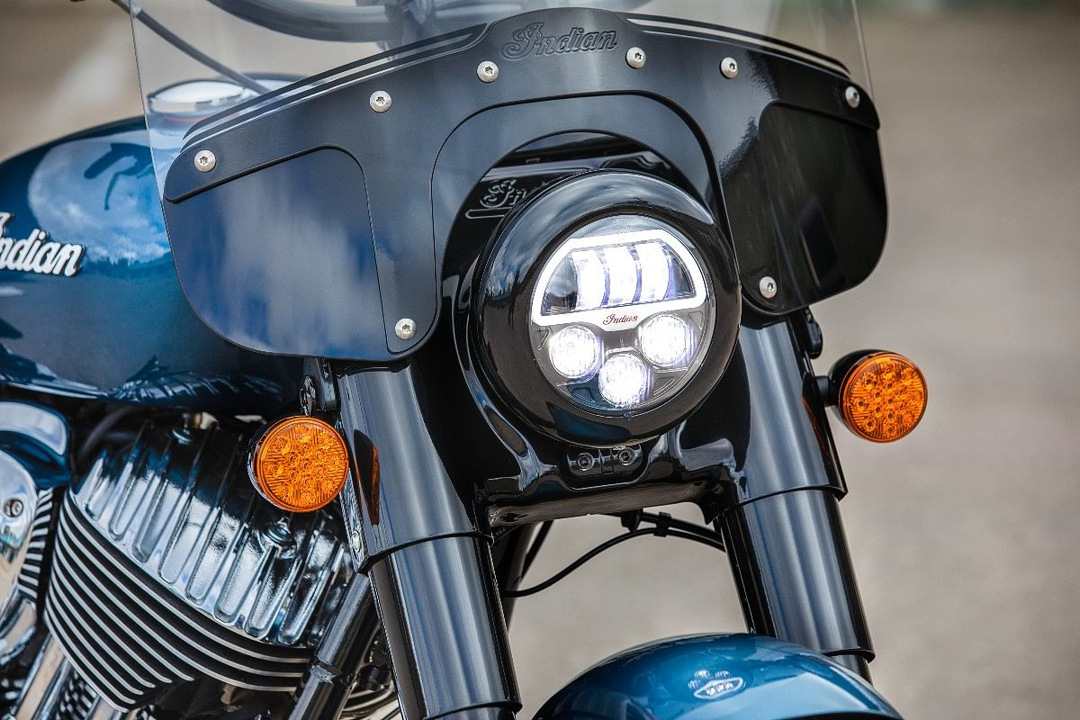 Pathfinder S LED headlamps standard across the 2022 Indian Chief lineup