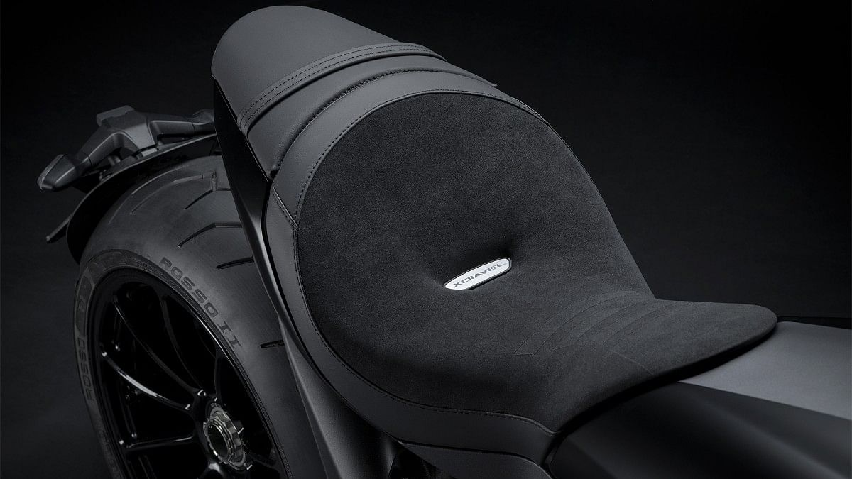The seat height of the Ducati XDiavel is lower than the Diavel 1260 at 750mm