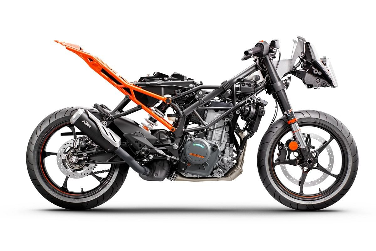 The trellis frame has been completely redesigned while the braking setup now comes from ByBre