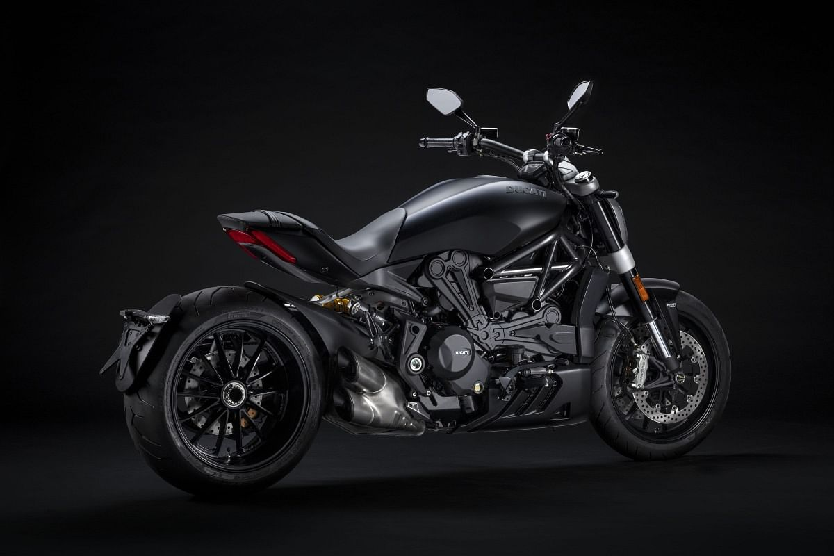 The XDiavel Dark receives a matte black finish throughout the body