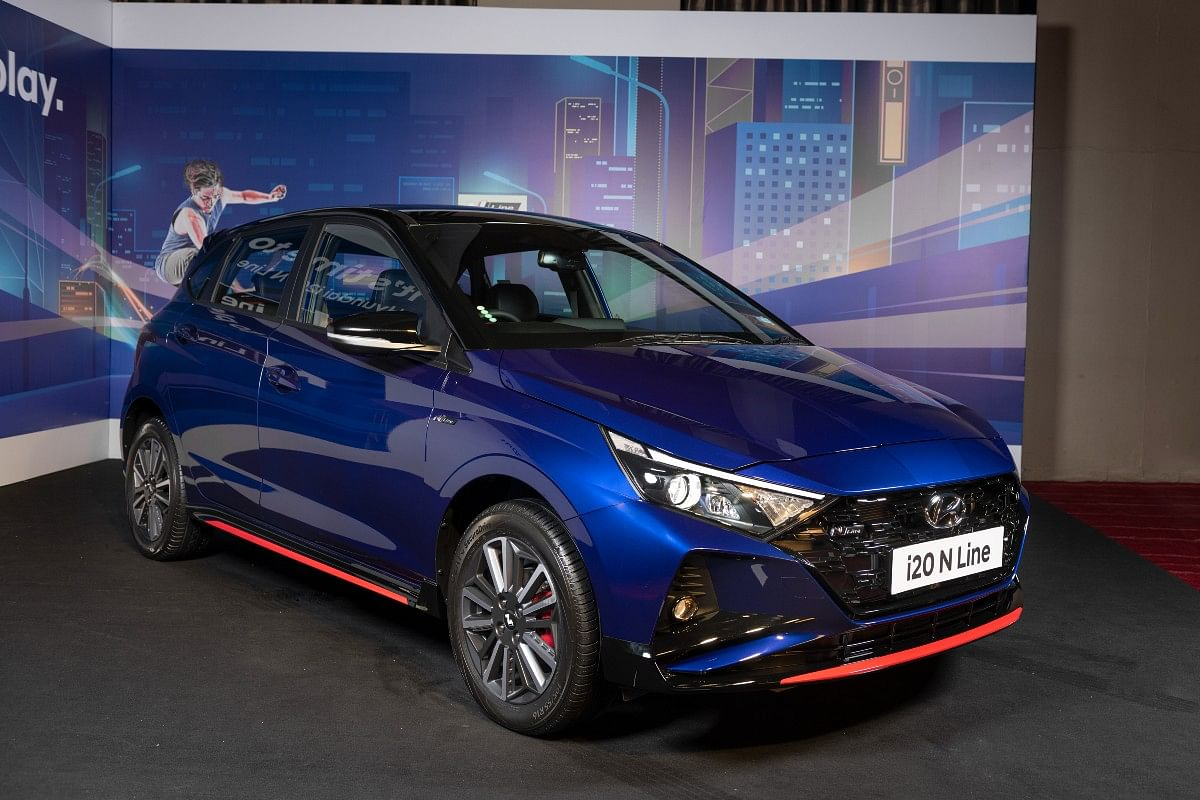 New Thunder Blue shade exclusive to the Hyundai i20 N Line