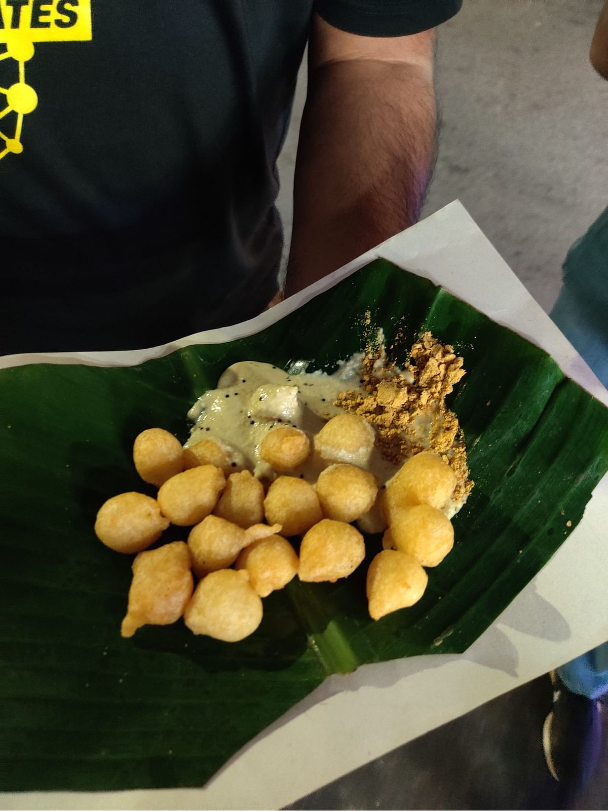 The famous Punuglu is a crispy snack which works well with coconut chutney and peanut powder
