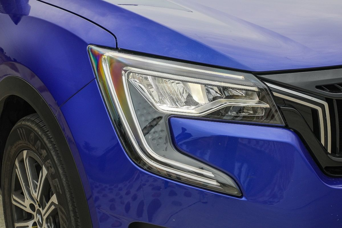 The XUV700 gets distinctive C-shaped DRLs which are bound to gain attention