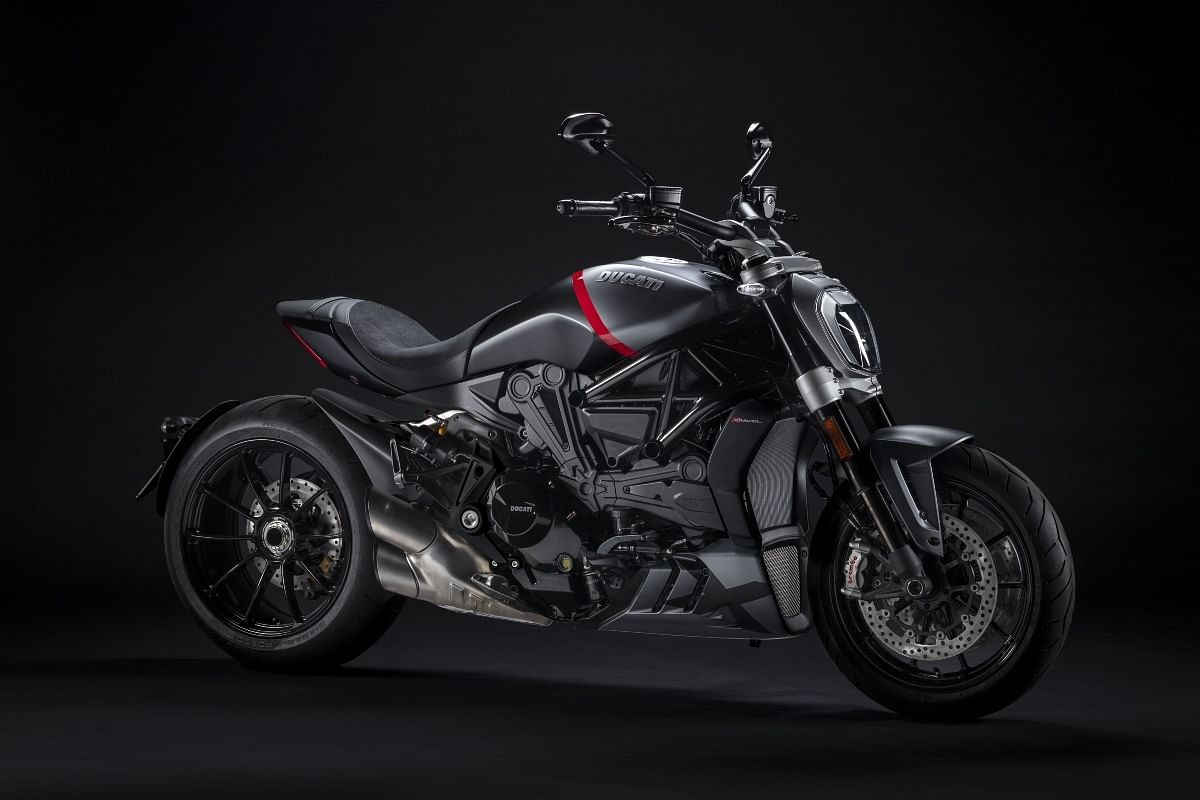The Ducati XDiavel Black Star gets this unique grey and black livery with touches of Ducati red