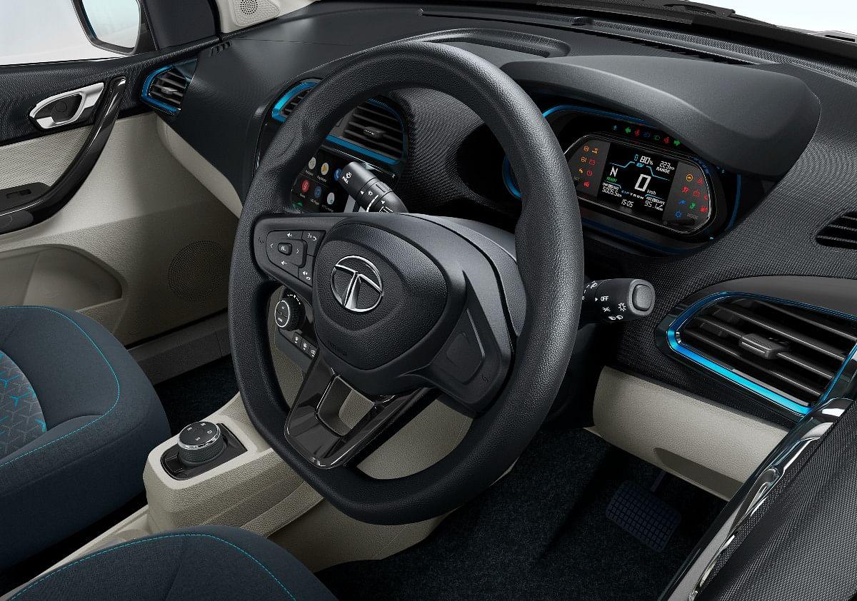 Tilt adjustable steering wheel comes as standard