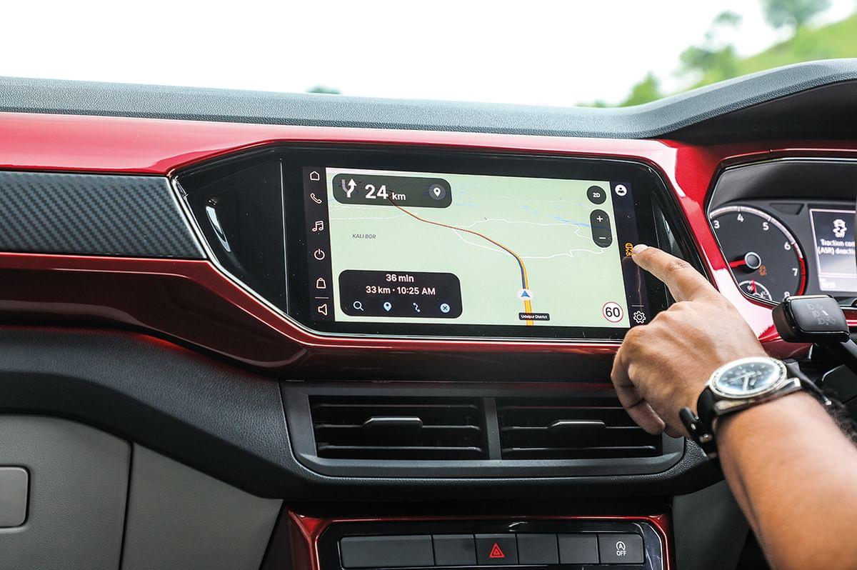 The VW Taigun GT features a 10-inch infotainment screen