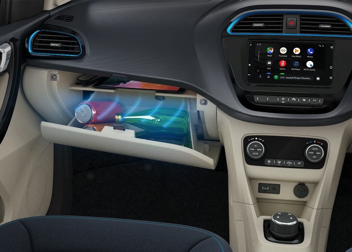 ...in addition to a cooled glovebox and a touchscreen Harman infotainment system