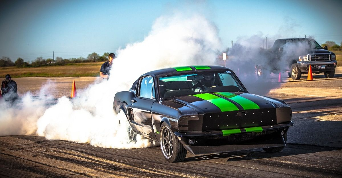 The inasanely fast electric Ford Mustang by Blood Shed Motors